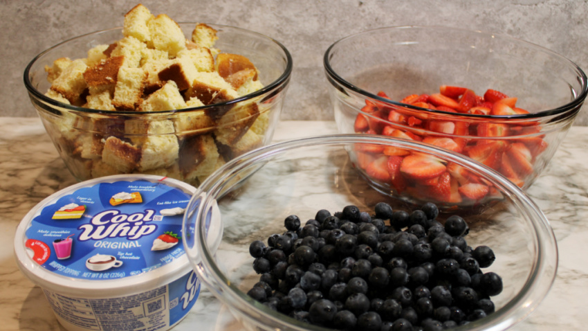 Red White and Blue Trifle Recipe ingredients needed