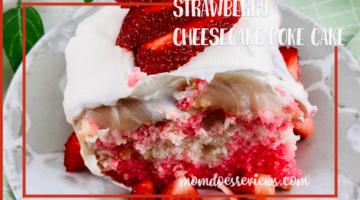 Strawberry Cheesecake Poke Cake#dessert #recipe #pokecake