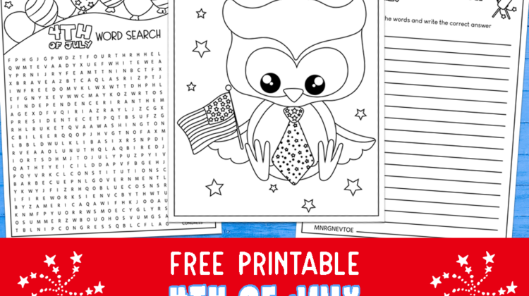 4th of July Printable Activity Pages