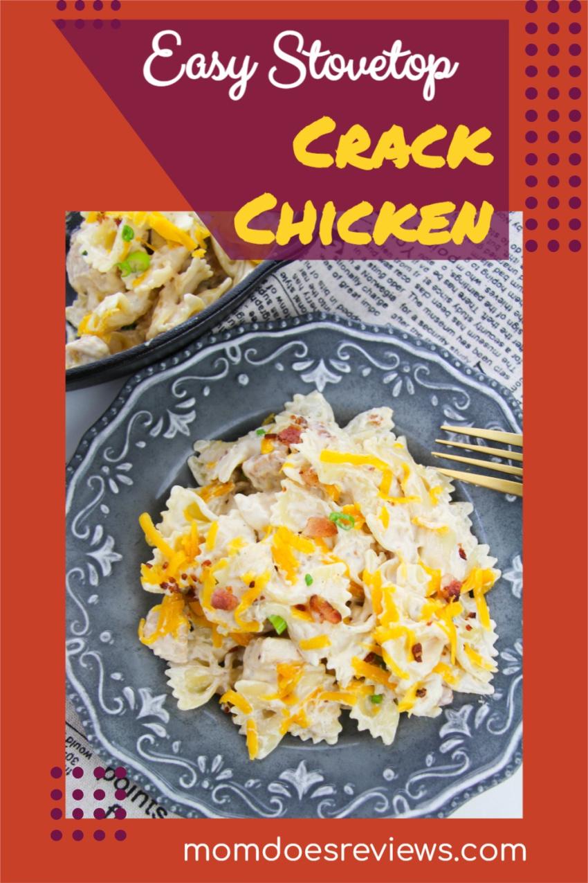 Easy Stovetop Crack Chicken #Recipe #crackchicken #comfortfood #getinmybelly