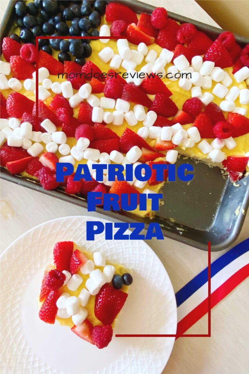 Patriotic Fruit Pizza #desserts #funfood #patrioticdessert