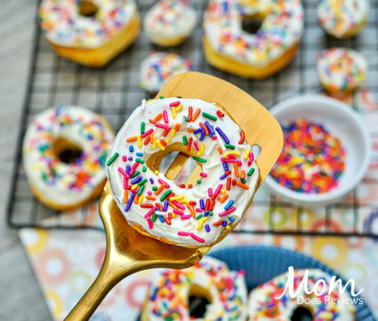3 Ingredient Air Fryer Sprinkle Donuts
