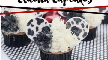 Cruella De Ville Cupcakes #Cruella #recipe #cupcakedecorating