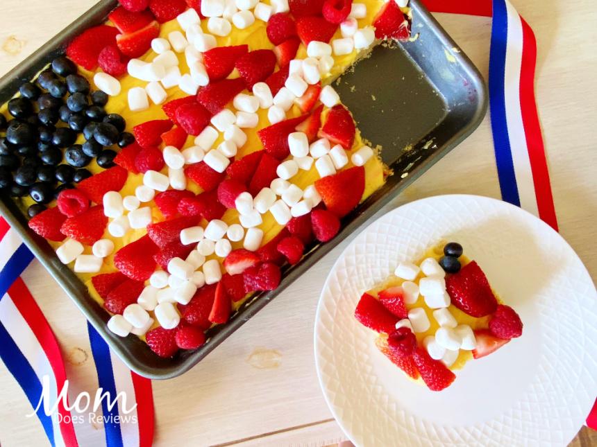 Patriotic Fruit Pizza #desserts