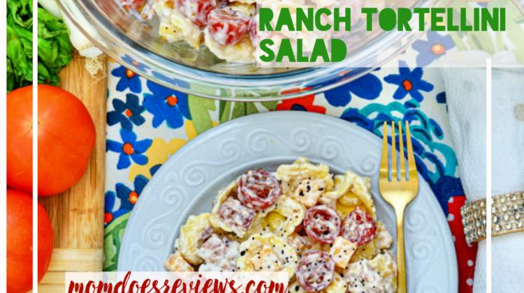 Bacon Ranch Cheddar Tortellini Salad #recipe #salad #sidesforbbzq