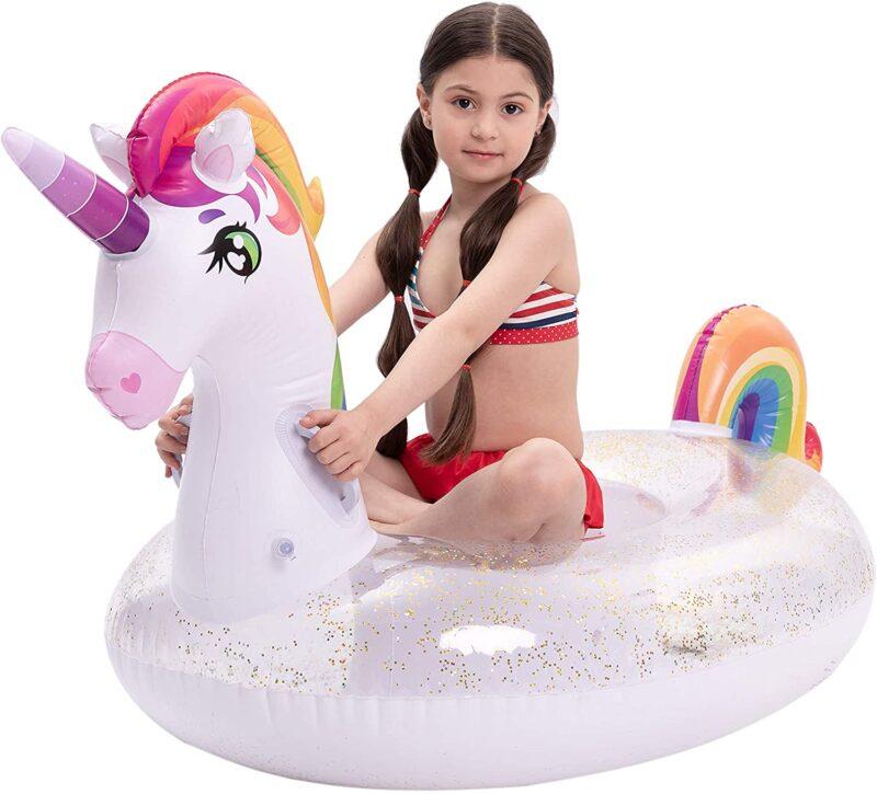 UNIQUE UNICORN FLOAT: Large unicorn inflatable float