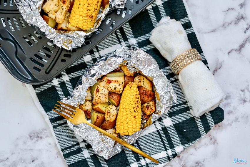 Air Fryer Ranch Chicken Foil Packs Recipe