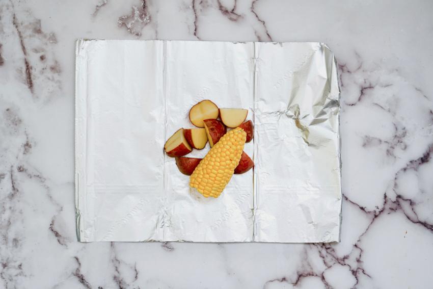 Air Fryer Ranch Chicken Foil Packs step 1