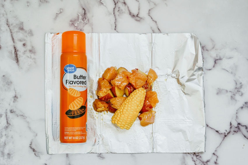 Air Fryer Ranch Chicken Foil Packs step 3