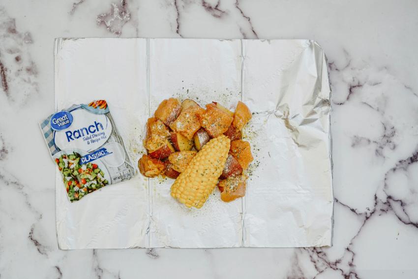Air Fryer Ranch Chicken Foil Packs step 4