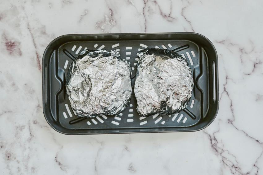 Air Fryer Ranch Chicken Foil Packs step 6