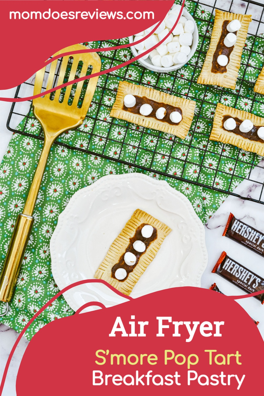 Easy Air Fryer S'more Pop Tart Breakfast Pastry #Recipe #sweets #smores