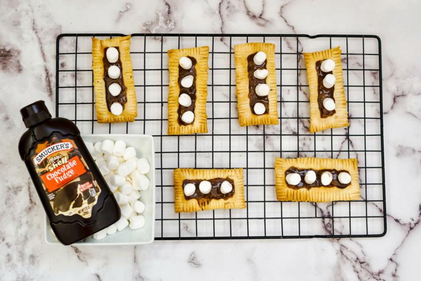 Air Fryer S'more Pop Tart Breakfast Pastry process