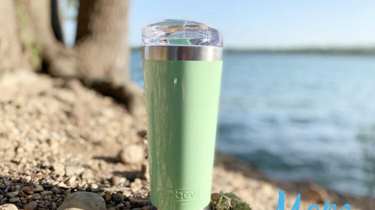MYBEVI 26 OZ. CLASSIC TUMBLER - CARRY RING LID green ash
