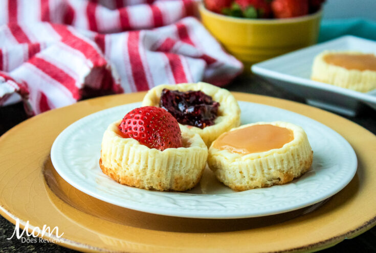 Crustless Mini Cheesecakes