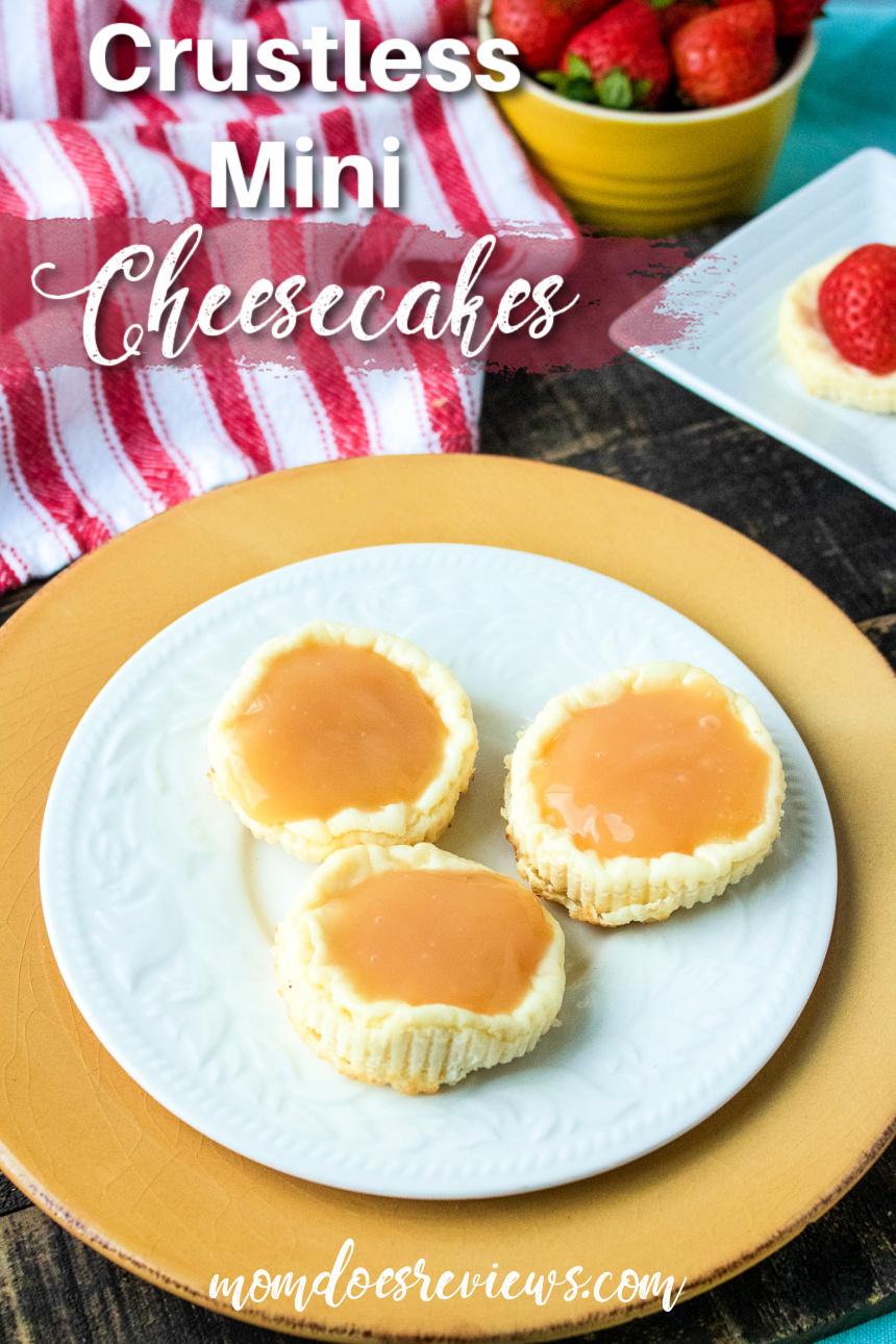 Crustless Mini Cheesecakes #recipe #desserts #cheesecake