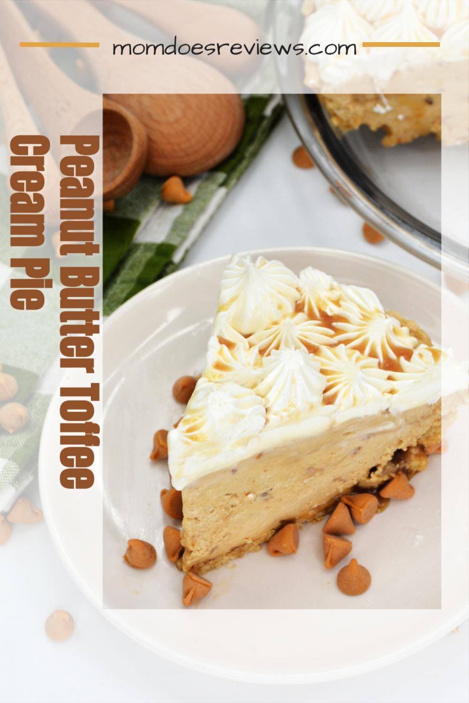 Peanut Butter Toffee Cream Pie