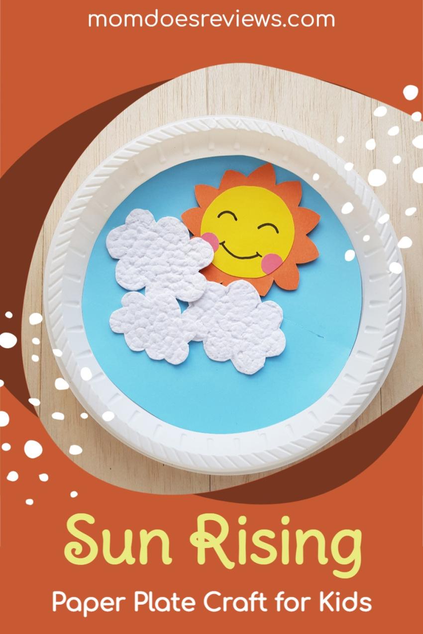 Sun Rising Paper Plate Craft for Kids #papercraft #funstuff #diy