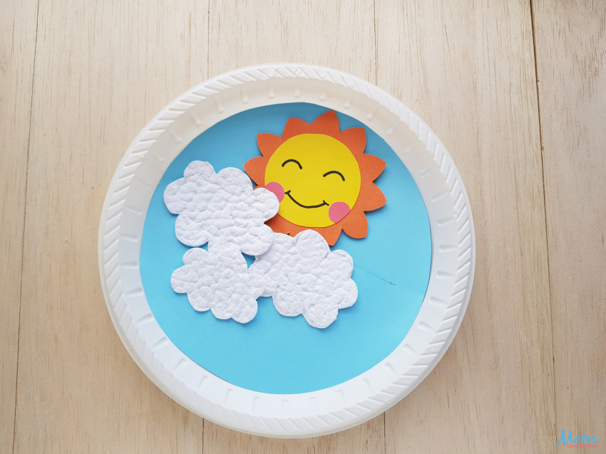 Sun Rising Paper Plate Craft for Kids