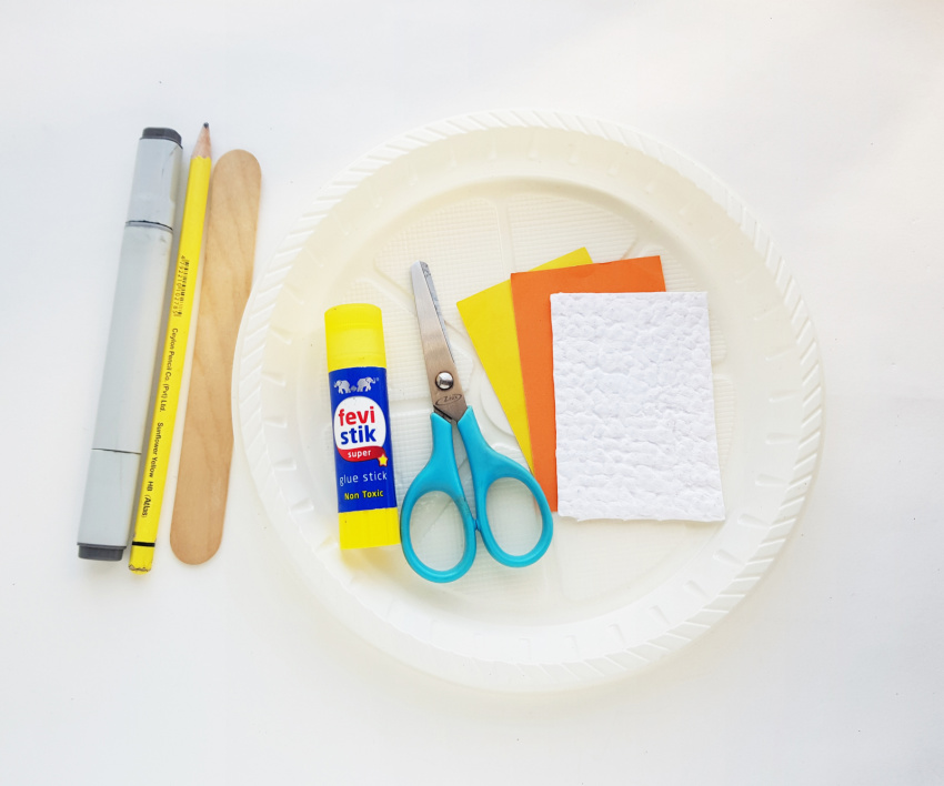 Sun Rising Paper Plate Craft supplies needed