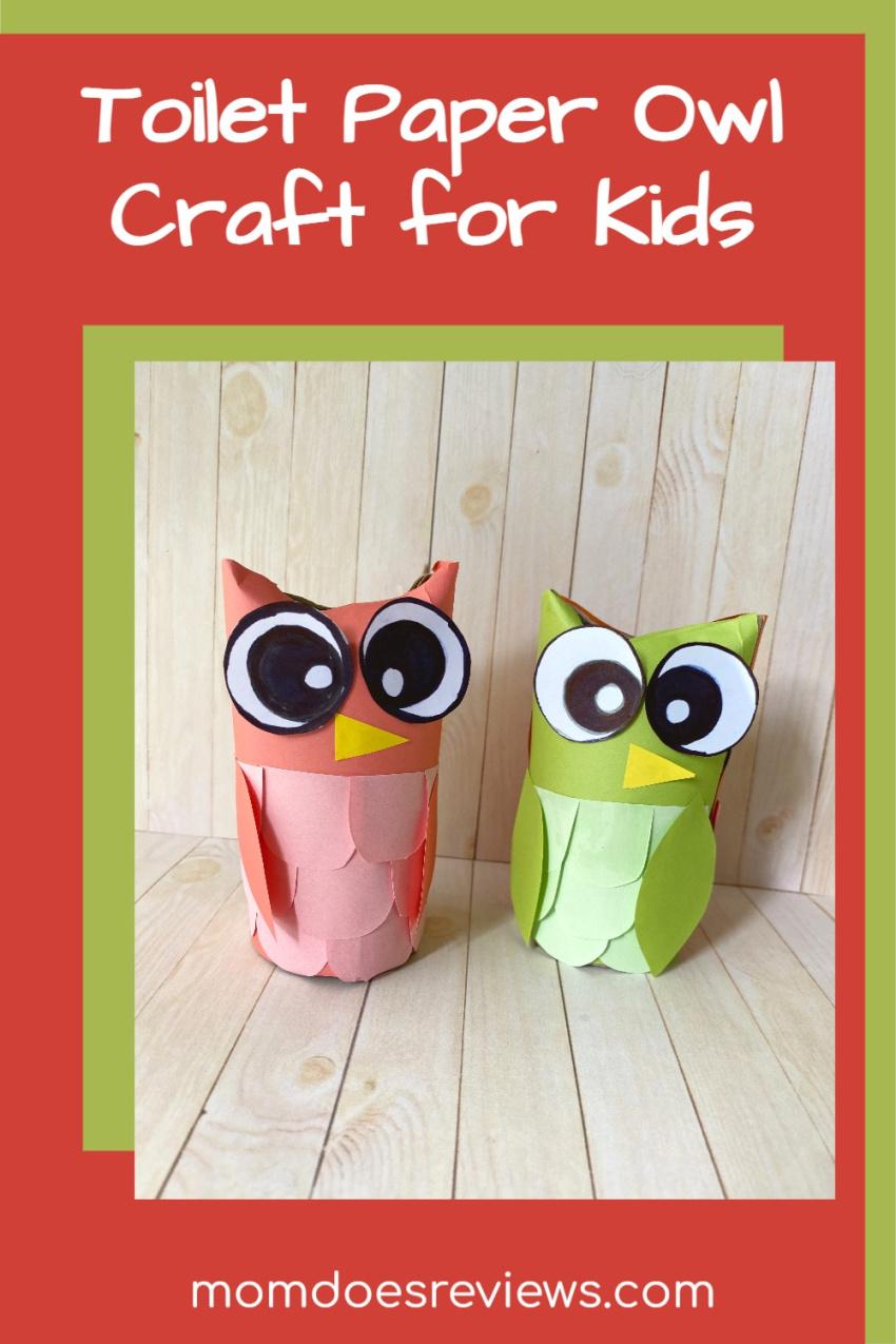 Toilet Paper Owl Craft for Kids #tprollcrafts #craftsforkids #owlcrafts