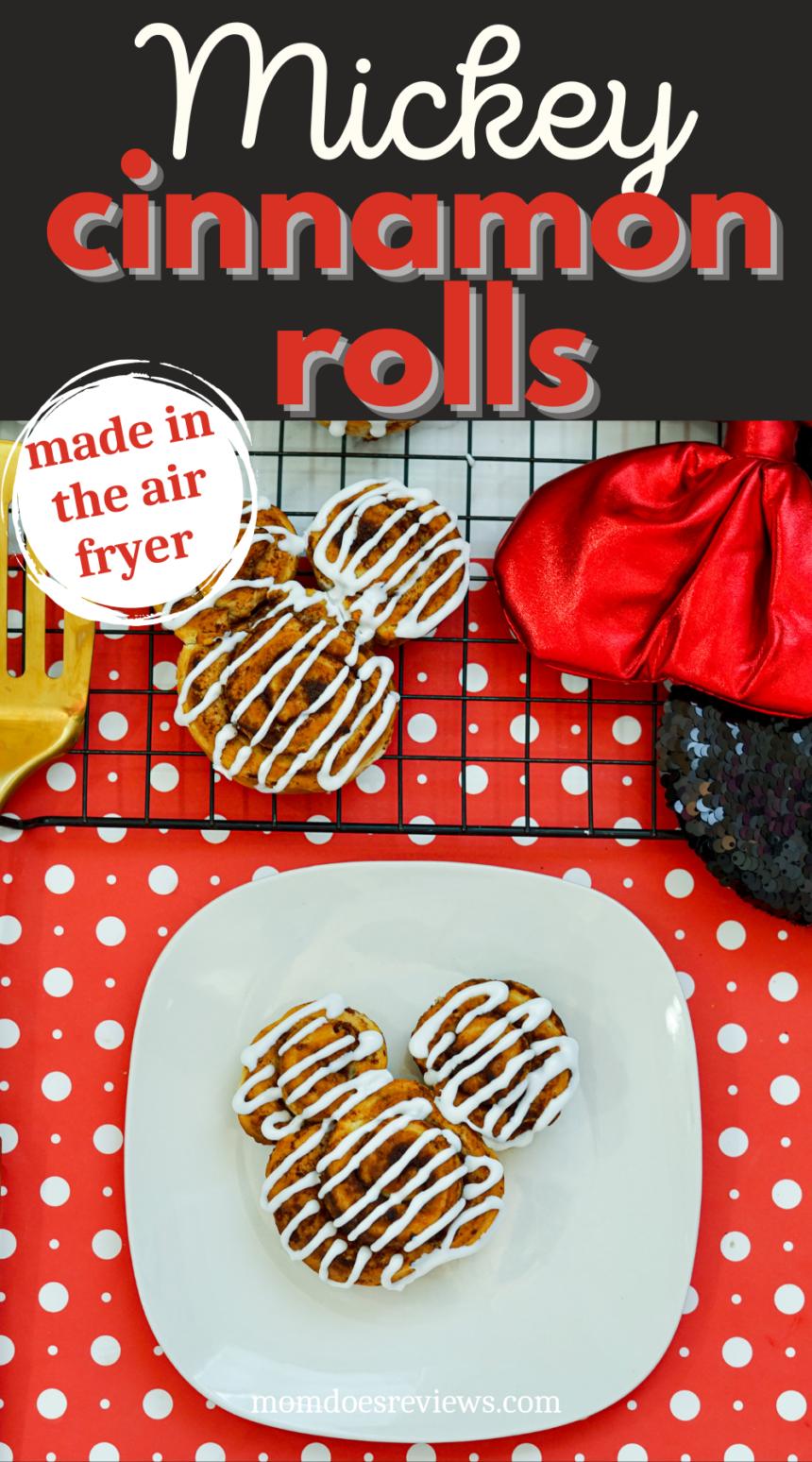 Air Fryer Mickey Cinnamon Rolls