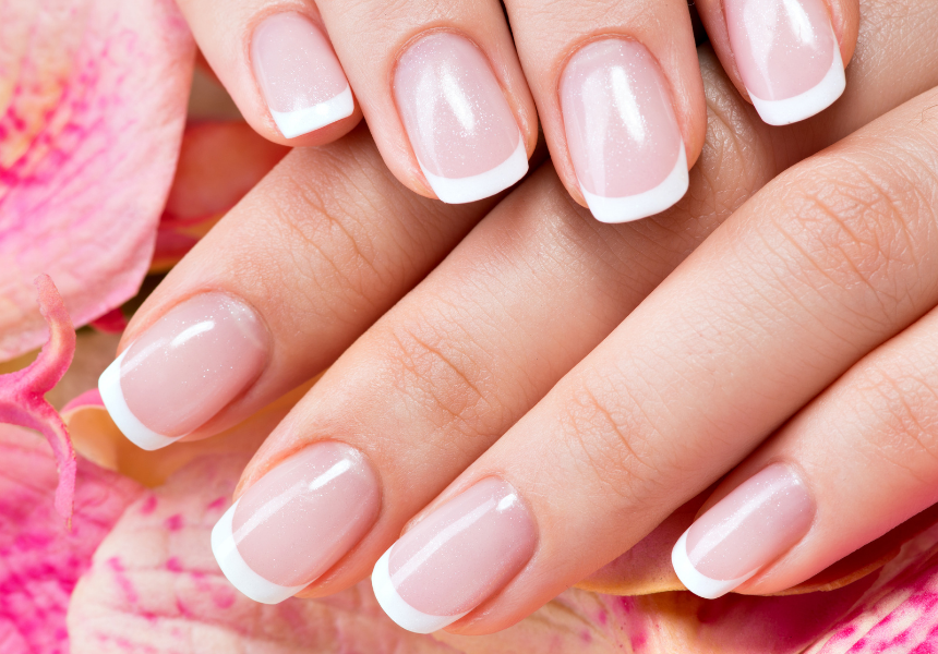 Pink & White Ombre Nail Design