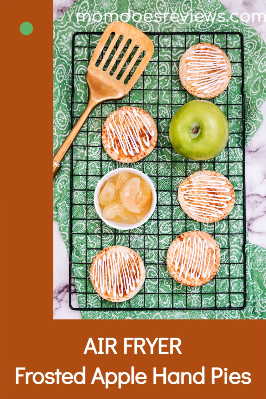 Air Fryer Frosted Apple Hand Pies #Recipe #Applepies #sweets #airfryer