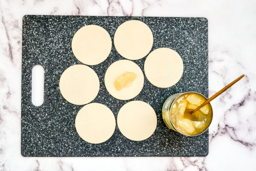 Air Fryer Frosted Apple Hand Pies process