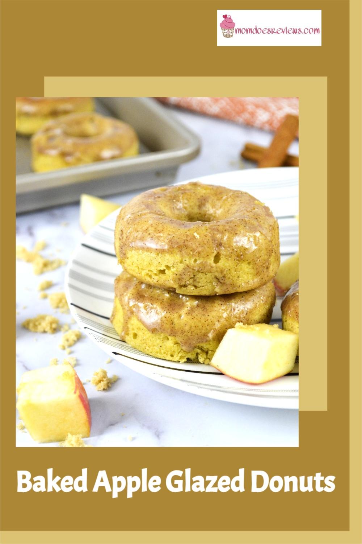 Easy Baked Apple Glazed Donuts #Recipe #appledonuts #sweets