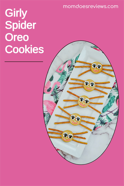 Fun & Easy Girly Spider Oreo Cookies #howto #halloween #spidercookies #funfood
