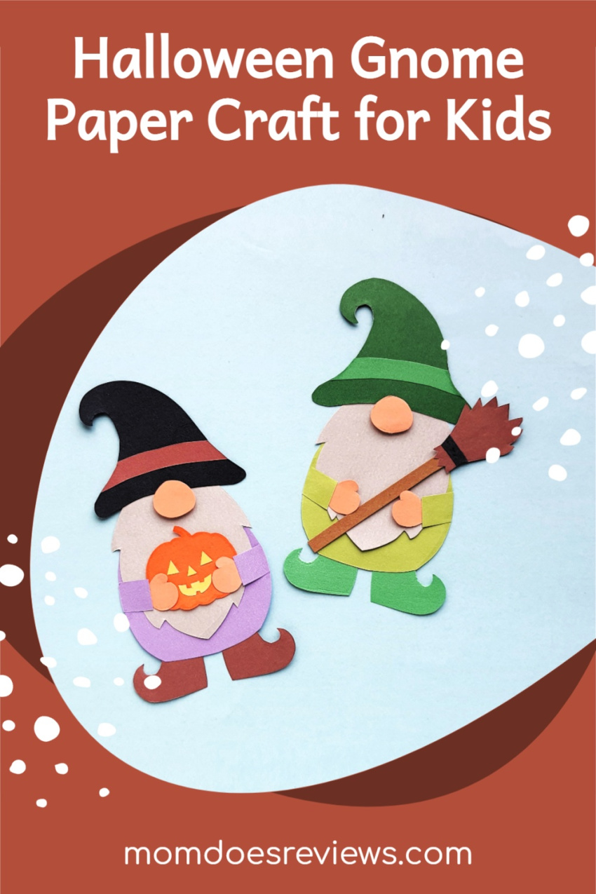 Halloween Gnome Paper Craft for Kids #papercrafts #halloweenfun #craftsforkids