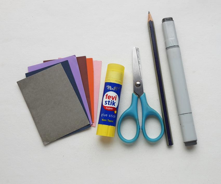 Halloween Gnome Paper Craft supplies needed