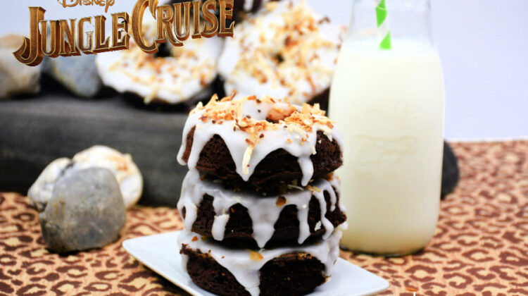 Chocolate Peanut Butter Jungle Cruise Donuts