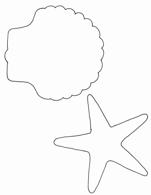 Mermaid Starfish Wand Craft Template