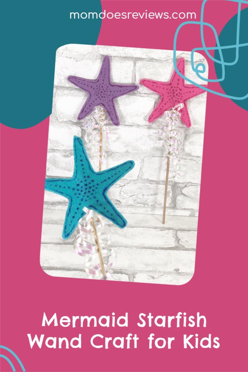 Mermaid Starfish Wand Craft for Kids #craftsforkids #magical #mermaids
