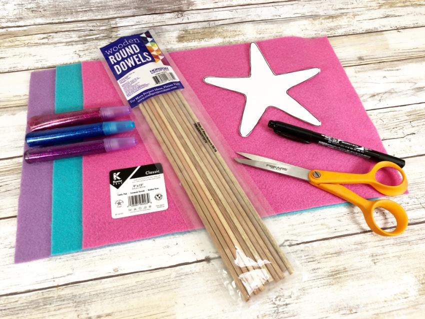Mermaid Starfish Wand Craft materials needed