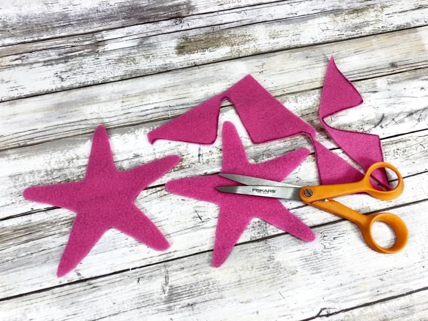 Mermaid Starfish Wand Craft process