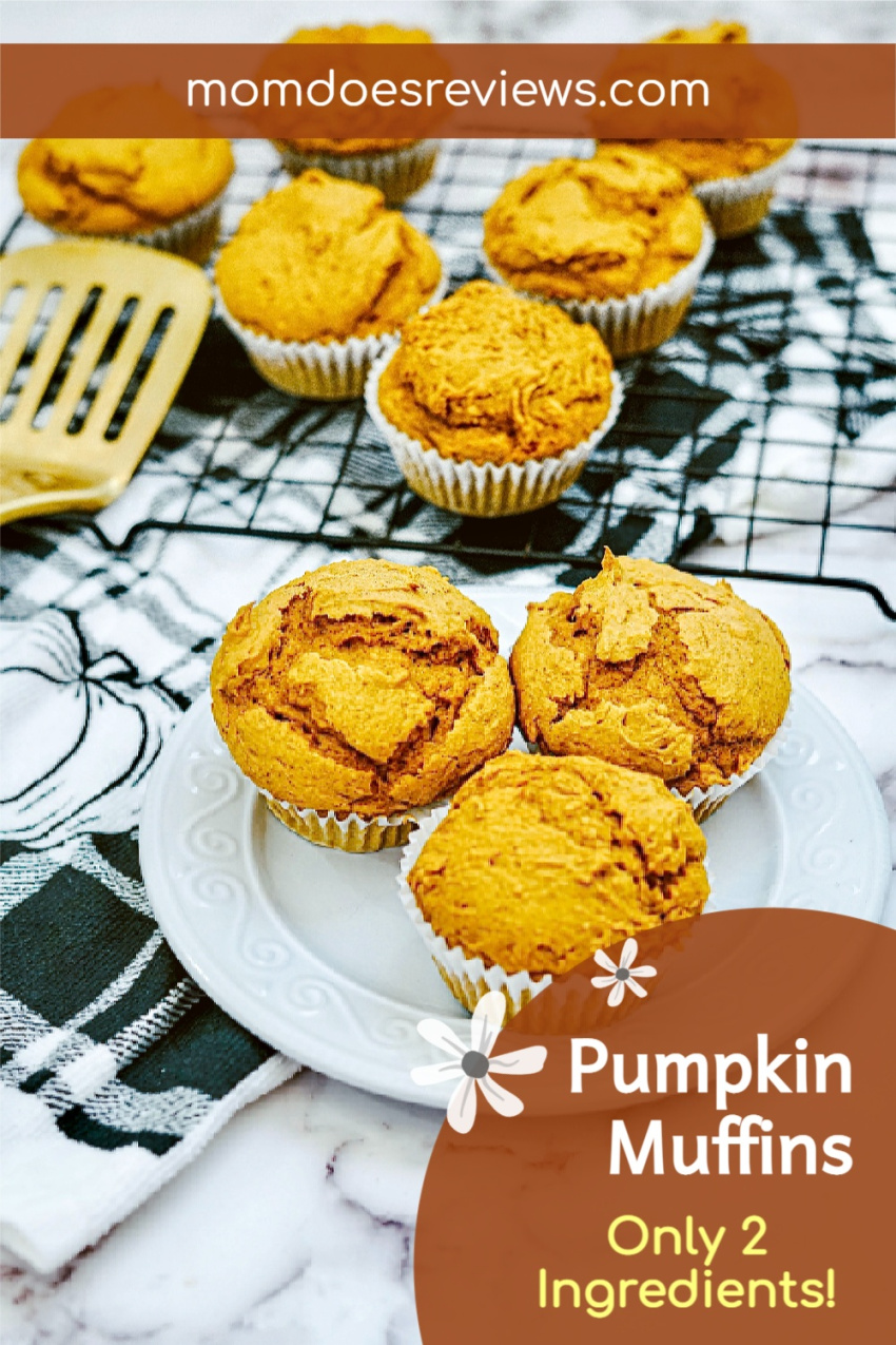 Easy Pumpkin Muffins with Only 2 Ingredients! #pumpkinspice #easyrecipe #falltreat