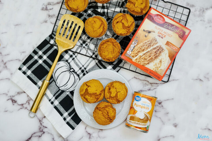 Easy Pumpkin Muffins with Only 2 Ingredients!