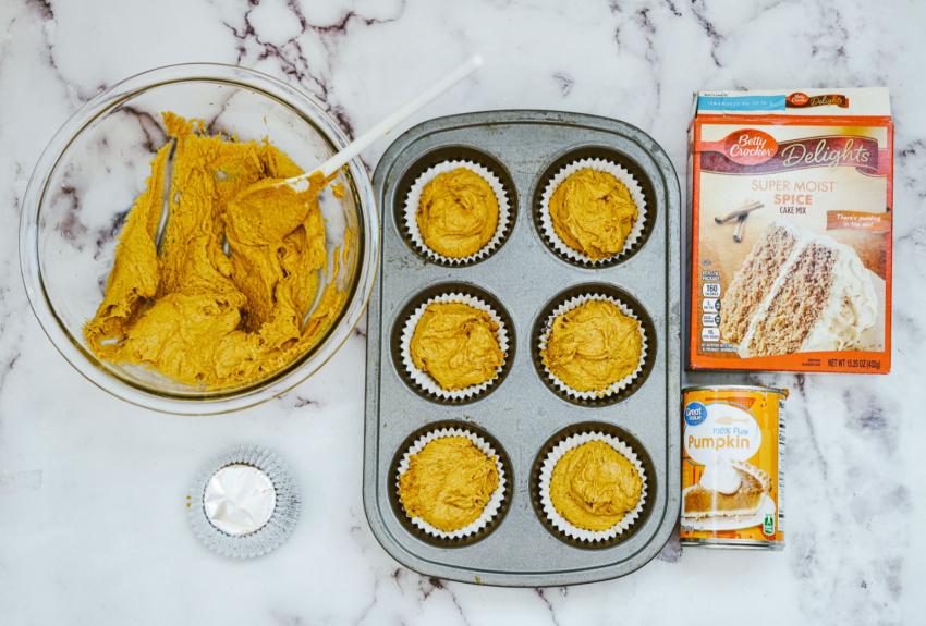 Pumpkin Muffins ingredients needed