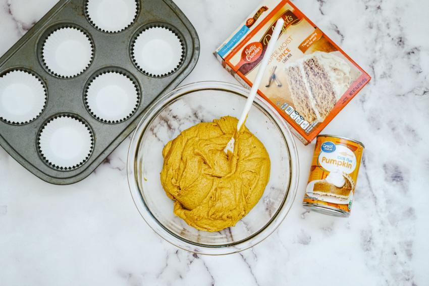 Pumpkin Muffins process