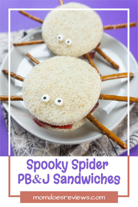 Spooky Spider PB & J Sandwiches