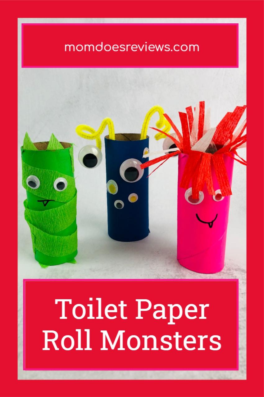 Toilet Paper Roll Monsters #Craft #Halloween #DIY #monstercraft