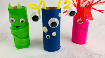 Toilet Paper Roll Monsters Craft