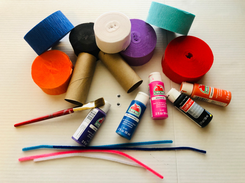 Toilet Paper Roll Monsters supplies needed