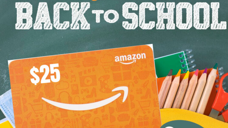 Back to School $25 PayPal or Amazon Gift Card #Giveaway