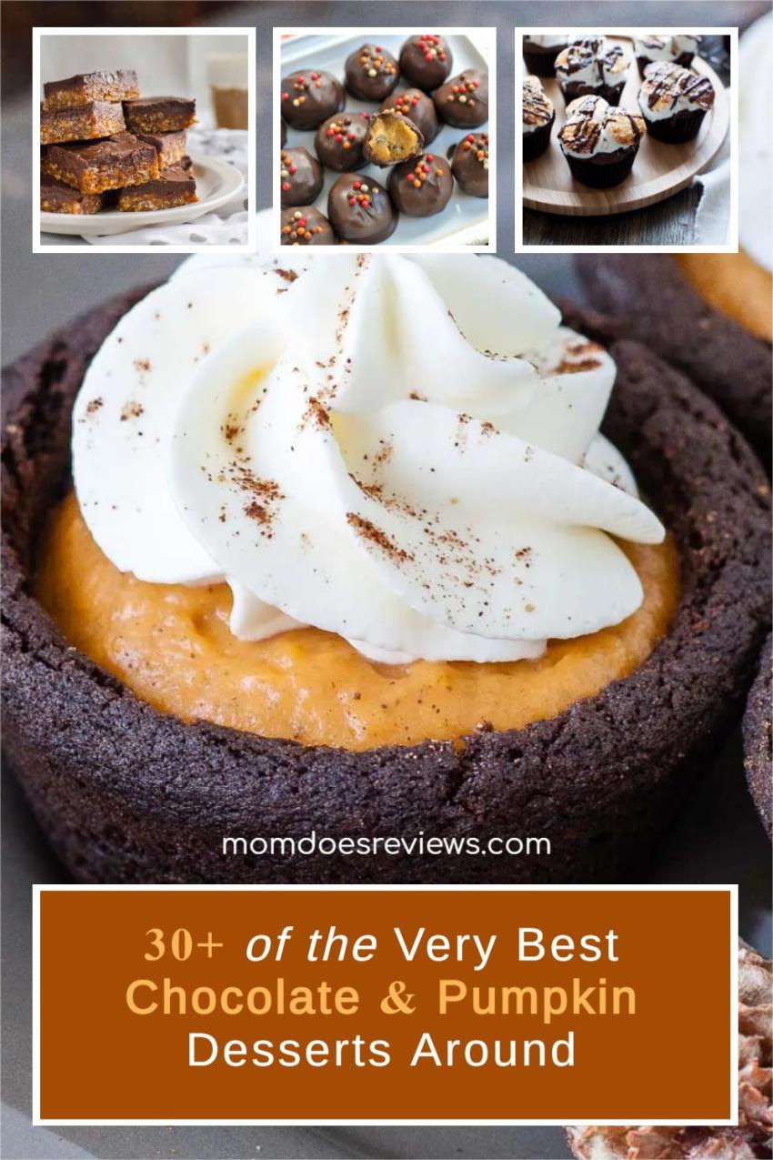 30+ of the Very Best Chocolate and Pumpkin Desserts Around #recipe #chocolatepumpkin #sweets