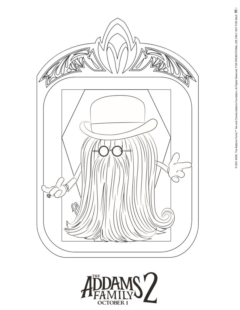 Dreadfully Fun Coloring Pages for THE ADDAMS FAMILY 2