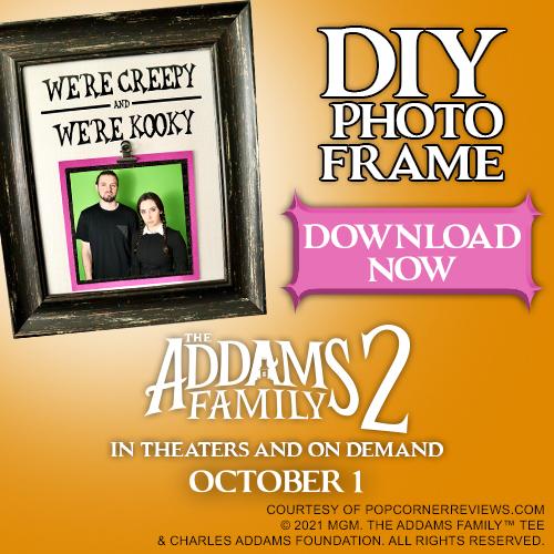 Addams Family photo frame